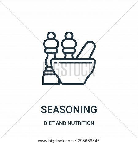 Seasoning Icon Isolated On White Background From Diet And Nutrition Collection. Seasoning Icon Trend