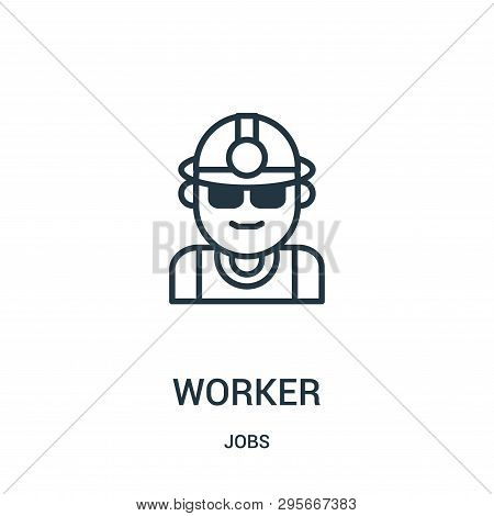 Worker Icon Isolated On White Background From Jobs Collection. Worker Icon Trendy And Modern Worker
