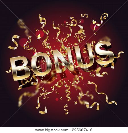 Bonus Casino Banner, First Deposit Bonus, Vector Illustration