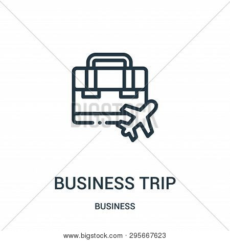 Business Trip Icon Isolated On White Background From Business Collection. Business Trip Icon Trendy