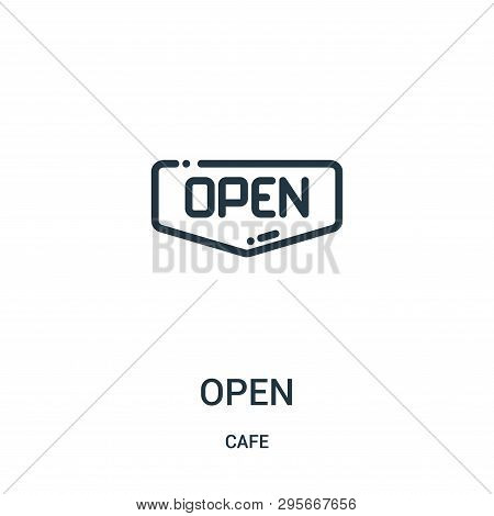Open Sign Icon Isolated On White Background From Cafe Collection. Open Sign Icon Trendy And Modern O