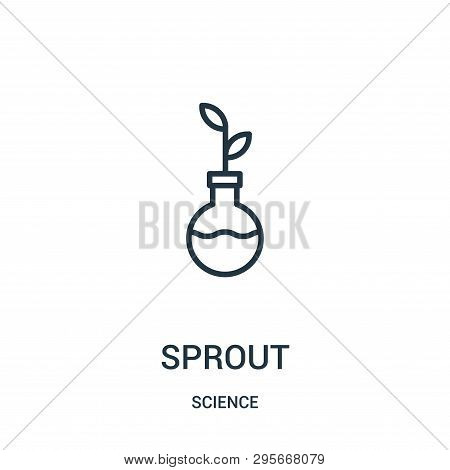 Sprout Icon Isolated On White Background From Science Collection. Sprout Icon Trendy And Modern Spro