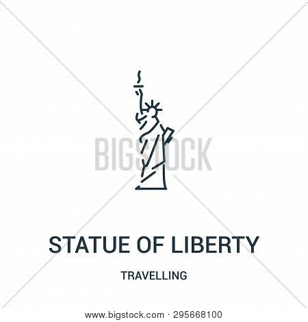 Statue Of Liberty Icon Isolated On White Background From Travelling Collection. Statue Of Liberty Ic