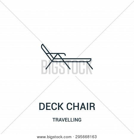Deck Chair Icon Isolated On White Background From Travelling Collection. Deck Chair Icon Trendy And