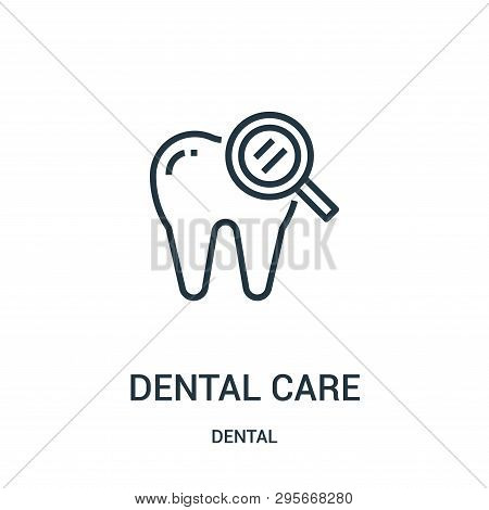 Dental Care Icon Isolated On White Background From Dental Collection. Dental Care Icon Trendy And Mo
