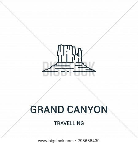 Grand Canyon Icon Isolated On White Background From Travelling Collection. Grand Canyon Icon Trendy