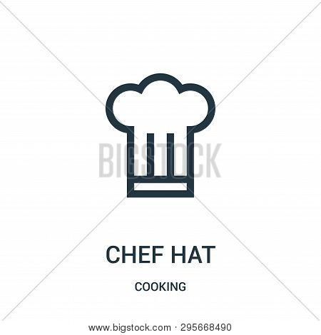 Chef Hat Icon Isolated On White Background From Cooking Collection. Chef Hat Icon Trendy And Modern