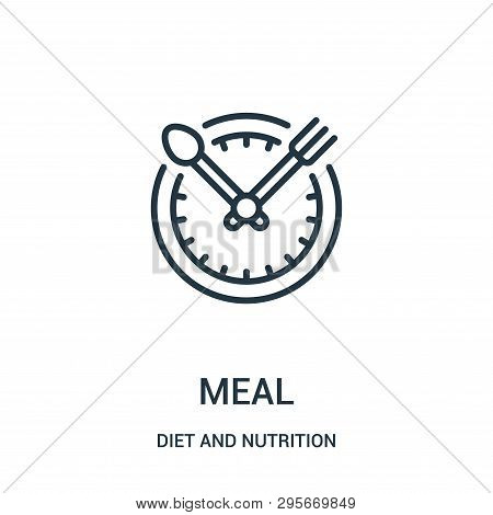 Meal Icon Isolated On White Background From Diet And Nutrition Collection. Meal Icon Trendy And Mode