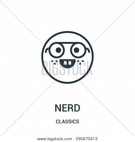 Nerd Icon Isolated On White Background From Classics Collection. Nerd Icon Trendy And Modern Nerd Sy