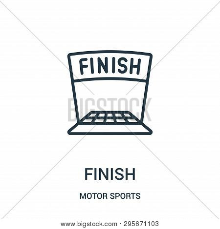 Finish Icon Isolated On White Background From Motor Sports Collection. Finish Icon Trendy And Modern
