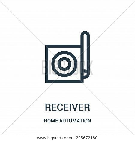 Receiver Icon Isolated On White Background From Home Automation Collection. Receiver Icon Trendy And
