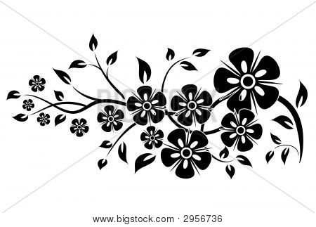 Decorative Floral Element For Design