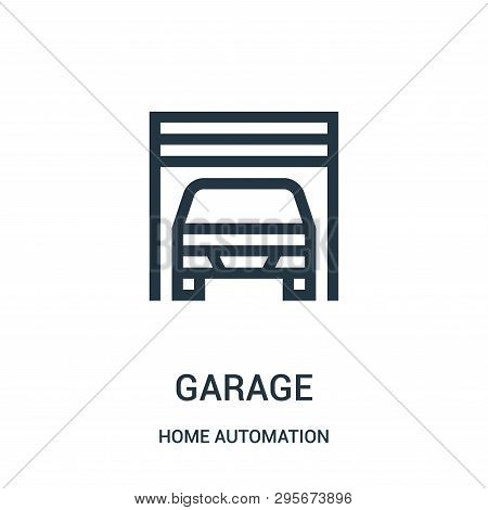 Garage Icon Isolated On White Background From Home Automation Collection. Garage Icon Trendy And Mod