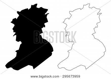 Sidi Bel Abbes Province (provinces Of Algeria, Peoples Democratic Republic Of Algeria) Map Vector Il