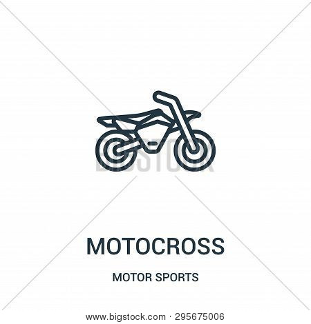 Motocross Icon Isolated On White Background From Motor Sports Collection. Motocross Icon Trendy And