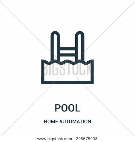 Pool Icon Isolated On White Background From Home Automation Collection. Pool Icon Trendy And Modern