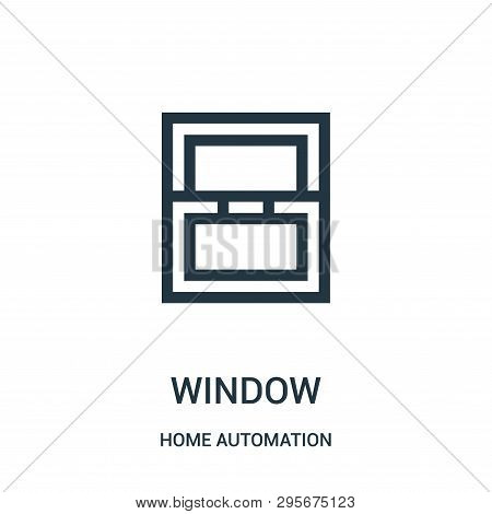 Window Icon Isolated On White Background From Home Automation Collection. Window Icon Trendy And Mod