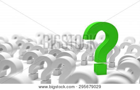 Question Mark Isolated Over White Background.concept Of Doubts And Questions.question Icon.3d Illust