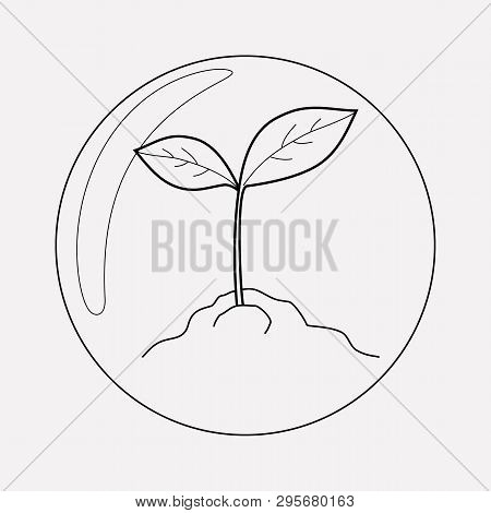 Biosphere Icon Line Element. Vector Illustration Of Biosphere Icon Line Isolated On Clean Background