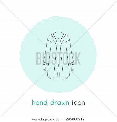 Cardigan Icon Line Element. Vector Illustration Of Cardigan Icon Line Isolated On Clean Background F