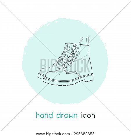 Dr Martens Icon Line Element. Vector Illustration Of Dr Martens Icon Line Isolated On Clean Backgrou