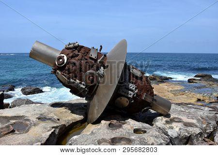Sydney, Australia - Nov 4, 2018. Lv Pinchang: Space Plan. Sculpture By The Sea Along The Bondi To Co