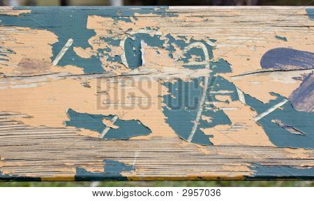 Grungy Wood Texture With Paint Flake