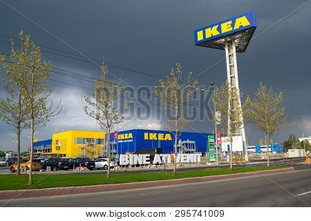 Ikea Pallady, The Second Ikea Store In Bucuresti, Romania - Exterior View Of The Main Showroom And W