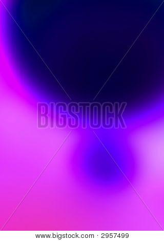 Sinking Blue Lava Lamp Wax Blob In Pink Liquid