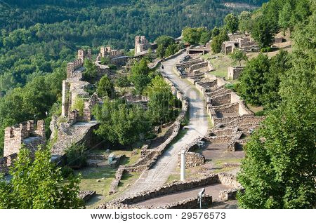 ruins of Tsarevets fortress in Veliko Tarnovo, Bulgaria poster