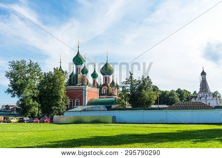 Pereslavl-zalessky, Russia - August 5, 2018 : Amazing Summer View Of The Church Of Alexander Nevsky