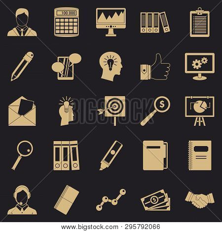 Financing Icons Set. Simple Set Of 25 Financing Vector Icons For Web For Any Design