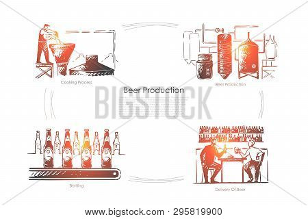 Brewery, Ale Fermentation Process, Beverage Bottling And Delivery, Brewer With Yeast At Alcohol Fact