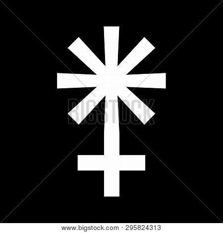 Illustration Of Astrology Juno Sign On Dark Background