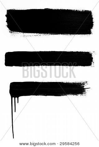 3 Black Brushstrokes