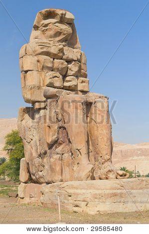Right Statue Of The Two Colossi Of Memnon ( Luxor, Egypt )