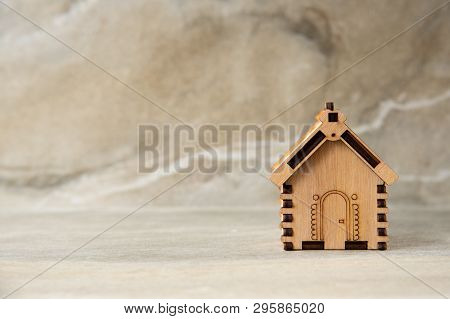 Miniature Of Wooden House Real Estate Concept