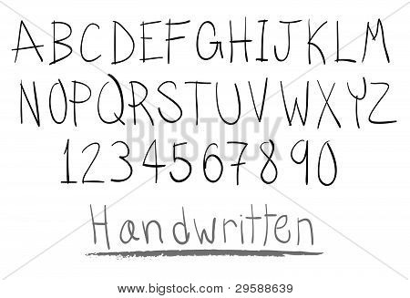 Hand Written Alphabet.eps
