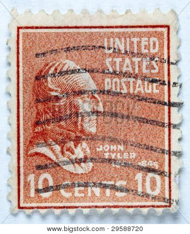 President John Tyler. United States - circa 1938