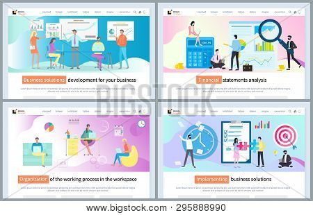 Implementing Business Solution Vector, Workplace Organization For Efficiency And High Productivity.