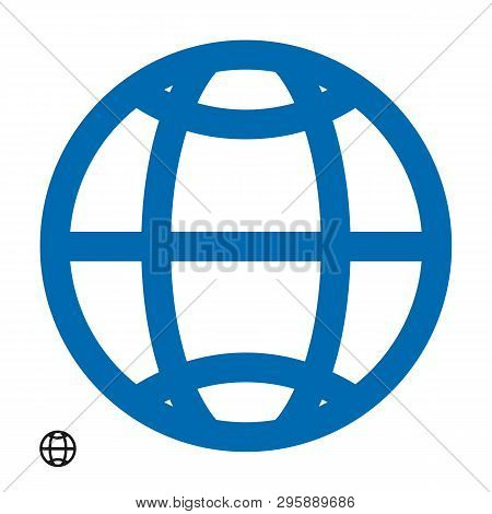 Www Address Http Icon Isolated. Modern Simple Flat Globe Sign. Business Internet Concept. Trendy Soc