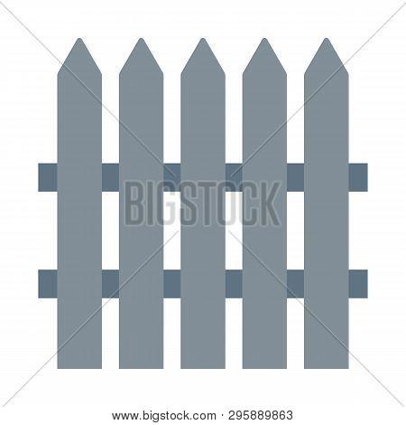 Fence Vector Icon. Fence Vector Icon Vector Eps10. Fence Icon. Simple  Fence Vector Icon. On White B