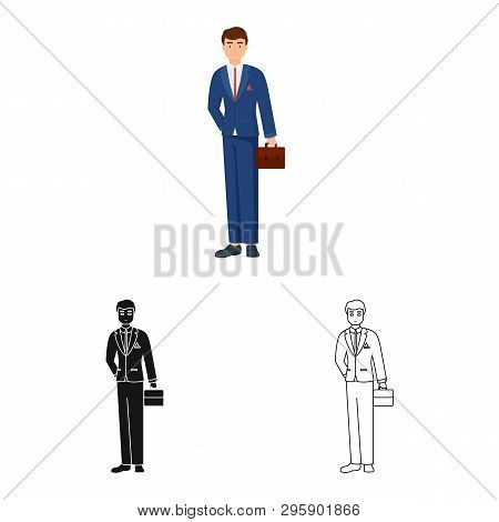 Isolated Object Of Man  And Business Symbol. Collection Of Man  And Businessperson  Stock Vector Ill