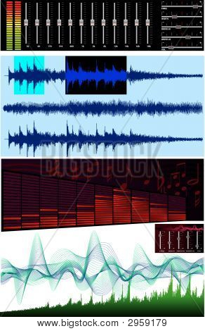 Wave editor spectrum analyzer - This image is a vector illustration and can be scaled to any size without loss of resolution. poster