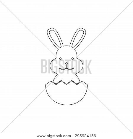 Paschal Rabbit Outline Icon. Elements Of Easter Illustration Icon. Signs And Symbols Can Be Used For