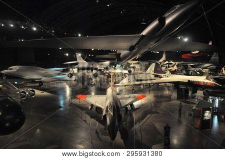 May 30, 2016, Dayton, Oh Cold War Exhibit With Northrop Grumman B-2 Spirit, Lockheed U-2 And Martin