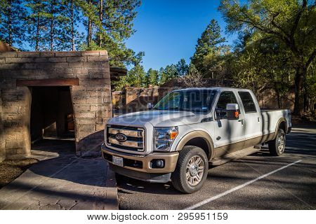 The Famous Off-road Ford Vehicle In Bandelier National Monument