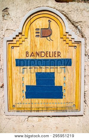 A Wooden Signboard Of Bandelier National Monument