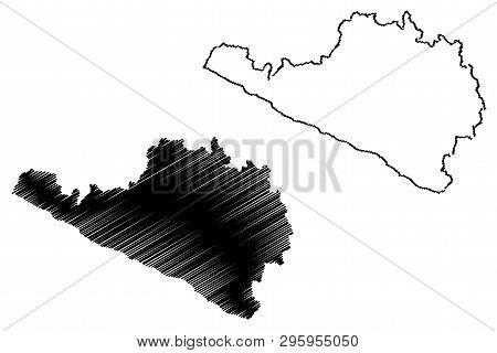 Department Of Arequipa (republic Of Peru, Regions Of Peru) Map Vector Illustration, Scribble Sketch