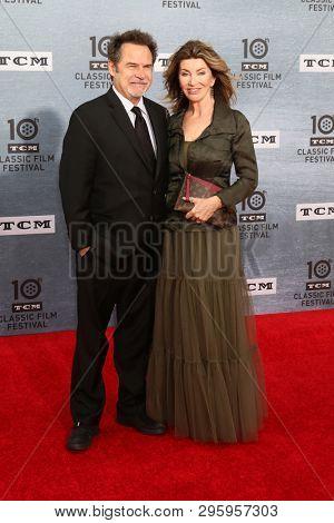 LOS ANGELES - APR 11:  Dennis Miller, Carolyn Espley at the 2019 TCM Classic Film Festival Gala -